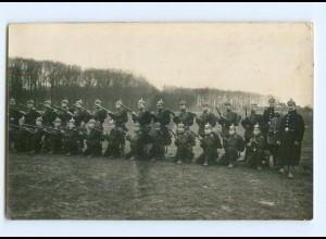 Y9366/ Soldaten mit Gewehr und Pickelhaube 1. Weltkrieg Foto AK 1916