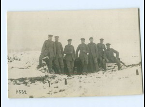 Y9365/ Soldaten in Champagne im Winter 1. Weltkrieg Foto AK 1916