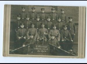 Y9353/ 16. Korpschaft 2. Rekr-Dep 1. Ers.-B. Inf.-Regiment 74 Soldaten Foto AK