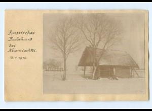 Y9429/ Russland Bauernhaus bei Kusmischki Foto 1916 1. Weltkrieg