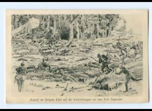 Y9390/ Angriff der Brigade Pfeil vor dem Fort Segersche 1. Weltkrieg AK 1916