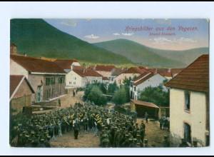 Y9388/ Kriegsbilder aus den Vogesen Abden-Konzert 1. Weltkrieg AK 1916