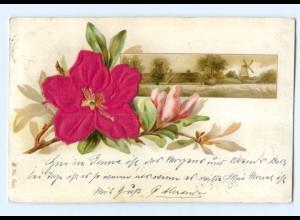 Y9419/ Blumen Blüte aus Seide AK 1901