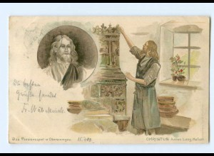 Y9423/ Oberammergau Passionspiel Anton Lanf als Christus Litho AK 1900