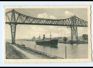 Y9410/ Rendsburg Hochbrücke Dampfer AK 1936