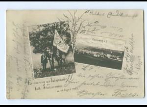 U2879/ Oberdorf a. Salzach bei Salzburg Fahnenweihe Kath.Arbeiterverein 1902 AK