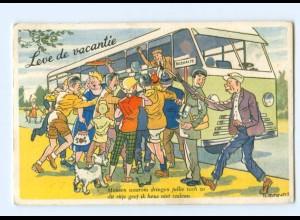 Y10157/ Leve de vacantie Omnibus 1959 Niederlande AK
