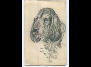 Y9674/ Handgemalte AK Hund ca.1912