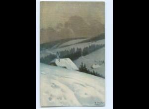 Y9610/ Fr. Reiss Winter im Schwarzwald AK Verlag: Elchlepp ca.1910