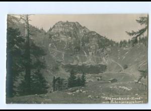 Y9611/ Bodenschneid-Haus mit Hohenpeissenberg Berghütte Foto AK ca.1920
