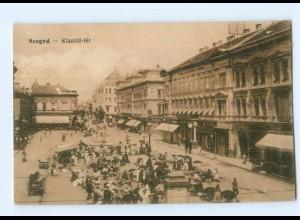 U2964/ Ungarn Szeged Klauzal-ter AK