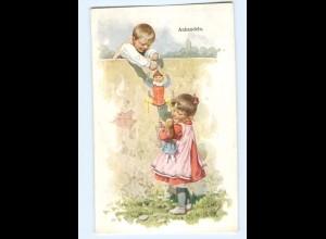 U2813/ K. Feiertag Kinder mit Puppen 1909 AK