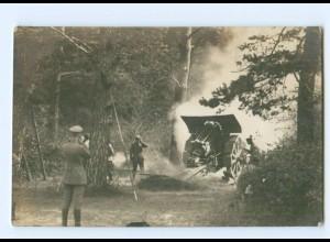 Y9513/ 21 cm Mörser Geschütz Foto AK 1. Weltkrieg