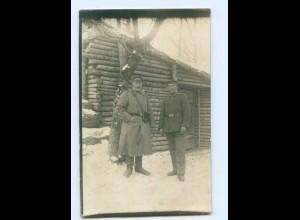Y9500/ Soldaten im Winter 1. Welrkieg Foto AK 1917