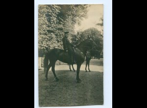 Y9519/ Soldat zu Pferde Foto AK 1. Weltkrieg