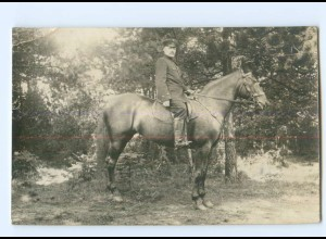 Y9520/ Soldat zu Pferde Foto AK 1. Weltkrieg