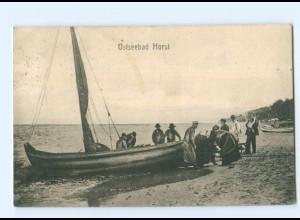 Y9645/ Ostseebad Horst Niechorze Pommern AK 1914