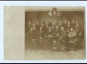 "Y11774/ Cesko - Slovanska ""Beseda"" v Karlsruhe Foto AK ca.1910"