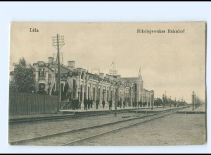 U2473/ Lida Nikolajewsker Bahnhof Weißrussland AK 1917