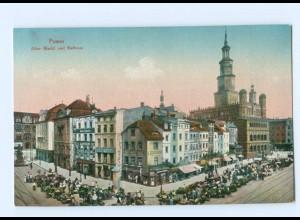 U2466/ Posen Alter Markt und Rathaus AK ca.1910
