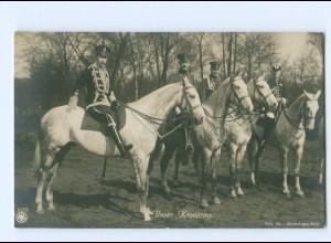 U2655/ Unser Kronprinz zu Pferde Husaren Uniform NPG Foto AK ca.1912