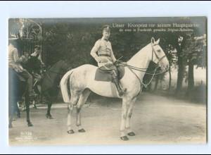 U2653/ Kronprinz zu Pferde in Frankreich Foto AK ca.1914