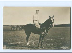 U2652/ Der Kronprinz spielt Polo NPG Foto AK ca.1912 Pferd