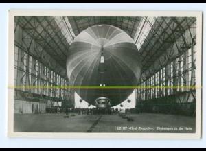 U2627/ LZ 127 Graf Zeppelin Einbringen in die Halle Foto AK ca.1935