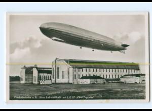 U2624/ Friedrichshafen Luftschiffhalle mit LZ 127 Zeppelin Foto AK ca.1935