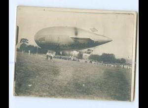 U2623/ Trumpf Schokolade Zeppelin Privat Foto ca.1920 12 x 9 cm