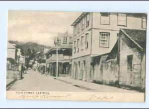 U2618/ Castries High Street St. Lucia Karibik AK 1907 British West Indies