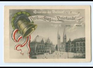 U2599/ Bremen Heil und Sieg dem Vaterlande 1914/15 Patriotik AK