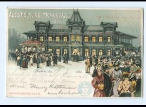 Y9625/ Berlin Ausstellung Transvaal 1897 Litho AK Buren