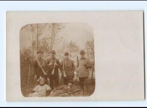 U2390/ Jagd Jäger Foto AK ca.1910