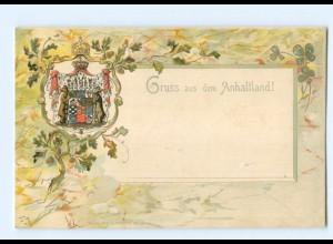 U2304/ Wappen Anhaltland Litho Prägedruck AK ca.1900