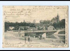 U2303-080./ Zwickau Paradiesbrücke AK 1901