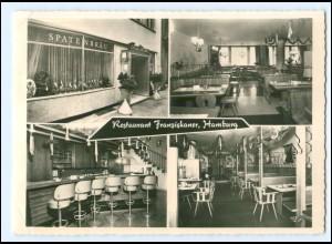 Y9576/ Hamburg Restaurant Franziskaer Gr. Theaterstraße AK ca.1960