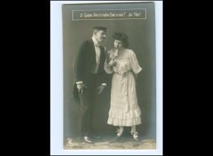 U9539/ Student und Frau schöne Foto AK ca.1910