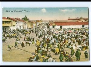 U3200/ Feria de Huancayo Peru AK ca.1912