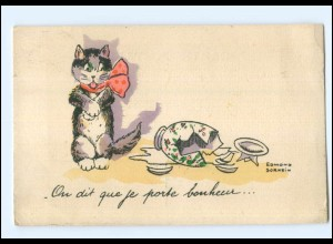 U3178/ Katze belgische. Künstler AK Edmond Sornein ca.1930