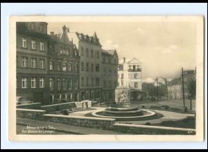U3057-083./ Meerane Am Weberbrunnen 1949 Foto AK