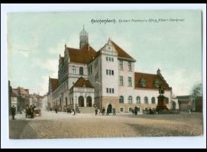 U3081-084./ Reichenbach Postamt AK 1906