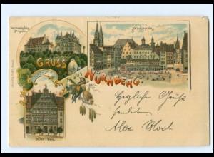 Y9820/ Gruß aus Nürnberg schöne Litho AK 1901