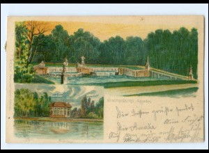 Y9818/ Nymphenburg bei München Litho AK 1900