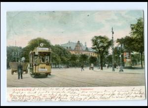 XX00318/ Hamburg Holstenthor Straßenbahn Ringbahn AK 1904