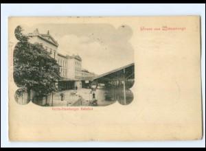 XX00317-193./ Wittenberge Berlin-Hamburger Bahnhof AK 1900