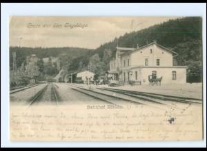 XX00710-095./ Bahnhof Zöblitz AK 1903