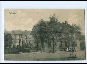 XX00734/ Ruhnow Bahnhof AK Pommern 1917