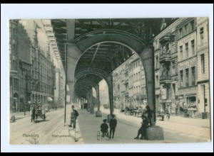 XX00356/ Hamburg Rödingsmarkt Hochbahn AK 1915