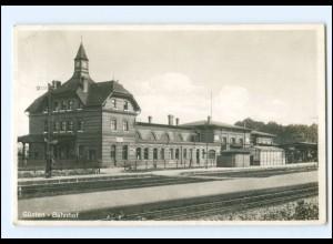 XX00864-394./ Güsten Bahnhof Foto AK 1941